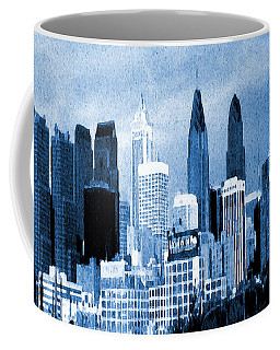 Philadelphia Blue - Watercolor Painting Coffee Mug