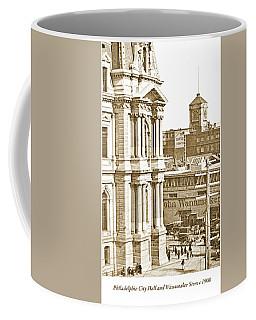 Philadelphia City Hall And Wanamaker Store C 1900 Vintage Photog Coffee Mug
