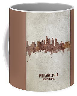 Philadelphia Pennsylvania Rust Skyline Coffee Mug