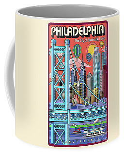 Philadelphia Poster - Pop Art - Travel Coffee Mug