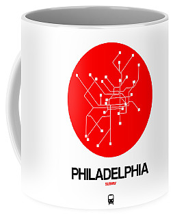 Philadelphia Red Subway Map Coffee Mug
