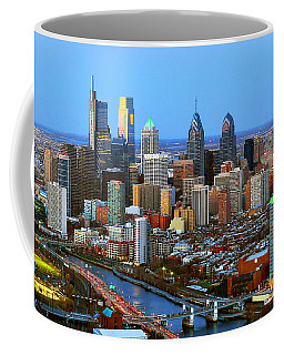 Philadelphia Skyline At Dusk 2018 Coffee Mug