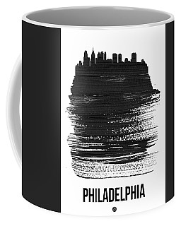 Philadelphia Skyline Brush Stroke Black Coffee Mug