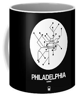 Philadelphia White Subway Map Coffee Mug