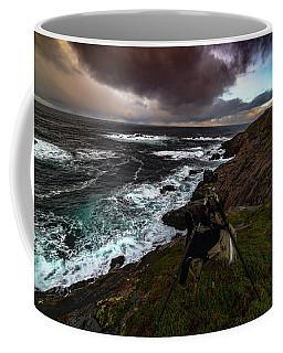 Photo Gear On Landscape Shot Coffee Mug