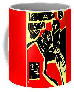 Piano Player Black Ivory Woodcut Poster 31 Coffee Mug