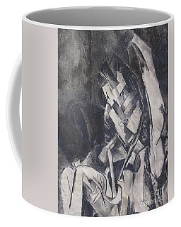 Coffee Mug featuring the drawing Picasso Study by Rosanne Licciardi