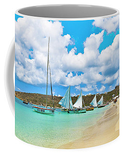 Coffee Mug featuring the photograph Picture Perfect Day For Sailing In Anguilla by Ola Allen