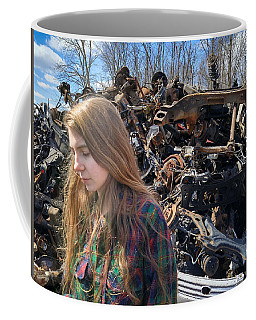 Coffee Mug featuring the photograph Pieces And Parts by Carl Young