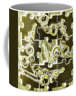 Piecing Puzzles Of A Crime Coffee Mug