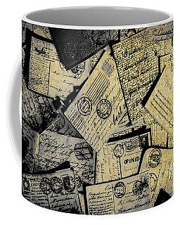 Piled Paper Postcards Coffee Mug