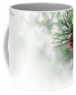 Pine Branch Under Snow Coffee Mug