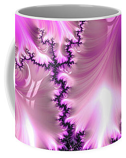 Coffee Mug featuring the digital art Pink And Purple Abstract Fractal by Matthias Hauser
