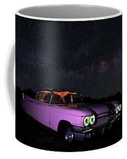 Pink Cadillac In The Desert Under The Milky Way Coffee Mug