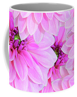 Pink Dahlia Flower Design Coffee Mug