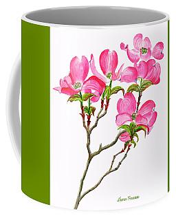 Pink Dogwood Vertical Design Coffee Mug