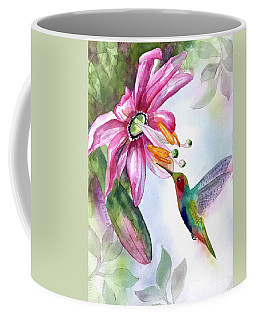 Pink Flower For Hummingbird Coffee Mug