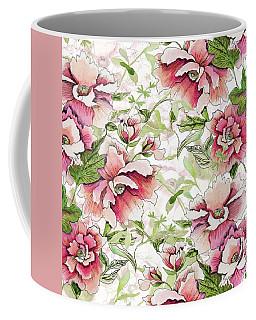 Pink Peony Blossoms Coffee Mug
