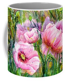 Pink Poppy Flowers Coffee Mug