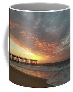 Pink Rippling Clouds At Sunrise Coffee Mug