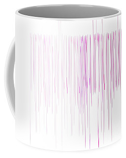 Coffee Mug featuring the mixed media Pinked by Jessica Eli