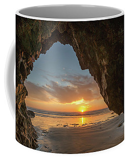 Coffee Mug featuring the photograph Pismo Caves Sunset by Mike Long