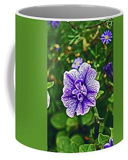 Pitlochry.  Purple Petunia. Coffee Mug