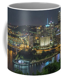 Coffee Mug featuring the photograph Pittsburgh Lights by David R Robinson