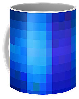 Coffee Mug featuring the digital art Pixelated Moonlit Sky by Rachel Hannah