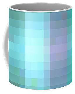 Coffee Mug featuring the digital art Pixelated Paradise Fusion by Rachel Hannah