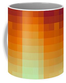 Coffee Mug featuring the digital art Pixelated Tropical Sunset by Rachel Hannah