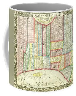 Plan Of Philadelphia, 1860 Coffee Mug