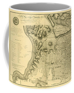 Plan Of The City Of Philadelphia And Its Environs Shewing The Improved Parts, 1796 Coffee Mug