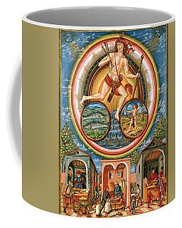 Planet Jupiter-pisces-, Influences The Activities Of Merchants, De Sphaera Manuscript, Xvth Century. Coffee Mug