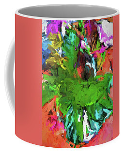 Plant With The Green And Turquoise Leaves Coffee Mug
