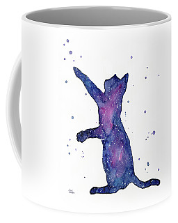 Playful Galactic Cat Coffee Mug