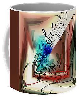 Playing The Piano Abstract Coffee Mug