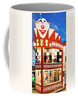 Coffee Mug featuring the photograph Playland At The Beach Fun House San Francisco Nostalgia 20181224 by Wingsdomain Art and Photography