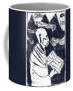 Poet Reading To Wind Clouds Otdv3 13 Coffee Mug