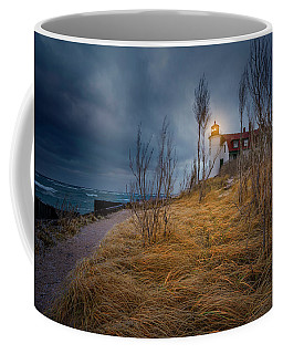 Point Betsie Lighthouse In Frost Coffee Mug