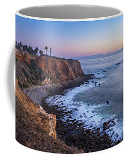 Coffee Mug featuring the photograph Point Vicente Lighthouse Long Exposure by Andy Konieczny