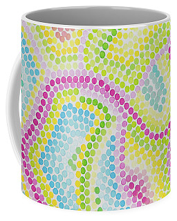 Pointillism - Palm Beach Pink And Green Coffee Mug