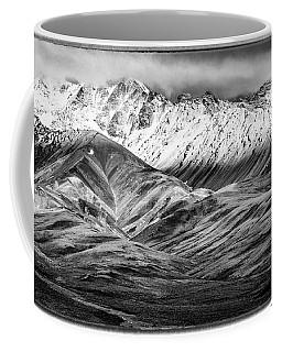 Polychrome Mountain, Denali National Park, Alaska, Bw Coffee Mug