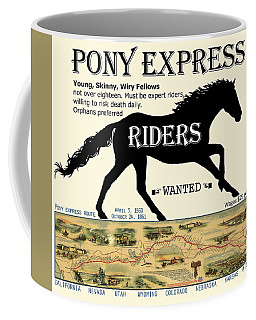 Pony Express Want Ad Coffee Mug