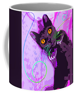 Pop Cat Angel Coffee Mug