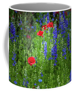 Coffee Mug featuring the photograph Poppies And Wildflowers by Mark Duehmig