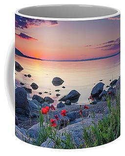 Poppies By The Sea Coffee Mug