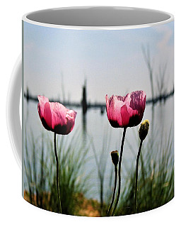 Poppies On Lake Mulwala 2 Coffee Mug