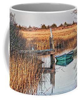 Poquoson Marsh Boat Coffee Mug