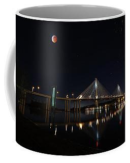 Port Mann Bridge With Blood Moon Coffee Mug
